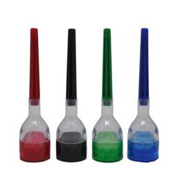 Cono de humo online-13.5cm 4 piezas Cono Rolling Paper fabricante de filtros Device Tool plástico Grinder rodillo desmontable fumadores 60pcs Accesorios CCA11579-A