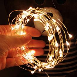 Alberi di natale di filo online-1M filo di rame LED luci della stringa illuminazione di festa Fata ghirlanda per l'albero di decorazione di cerimonia nuziale della festa di Natale