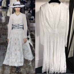 bbf5366c8dd2 2019 temperamento bianco il vestito elegante atmosfera vestidos de festa  moda ricamo di alta qualità per le donne boho