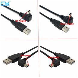 2019 linker winkel usb b kabel USB 2.0 Stecker auf Mini-USB Typ B 5pin 90-Grad-Up Down Left Right Angle Male Datenkabel 0,25 m / 0,5 m / 1,8 m / 5m günstig linker winkel usb b kabel