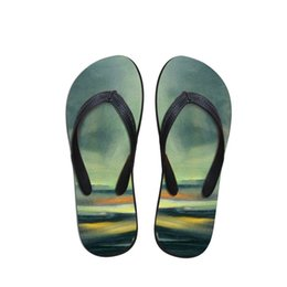 gemalte schuhe entwürfe Rabatt Hot Sale-Design Herren Flip Flops Strand Schuhe außerhalb Sandalen Flops Sandalen Mann Sommer Marine Malerei Daily Wear Flop
