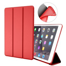 support ipad en silicone Promotion Etui pour iPad Mini 4 3 2 Etui en cuir PU Silicone dos souple à trois volets pour dormir Smart Cover pour iPad Mini Etui Funda