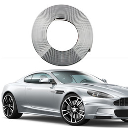 2021 cerchi e pneumatici  8M Eye Catching Silver Car Wheel Hub Rim Edge Protector Ring Tire Guard Rubber Sticker Car Styling