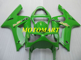 Injeção kit molde carenagem para KAWASAKI NINJA ZX 6R 600cc 03 04 ZX6R carenagens 636 2003 2004 ABS Top verdes ajustados ZX58 de