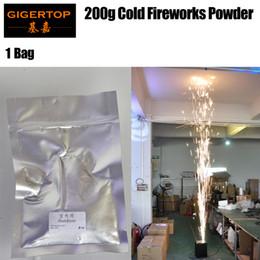1 bolsa TIPTOP Stage Light Máquina de fuegos artificiales en frío Spray en polvo 120 g / bolsa para exteriores / efectos de escenario en interiores DMX 512 Control remoto inalámbrico para bodas Bar desde fabricantes