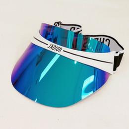 2019 mulher chapéu de moda Moda marca chapéu dazzle cor transparente anti-ultravioleta óculos de sol chapéu marca de moda chapéus para homens e mulheres chapéu de sol ajustável. mulher chapéu de moda barato