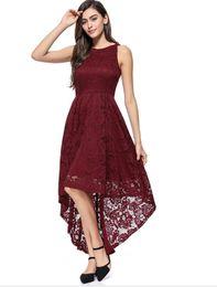 2019Fashion sexy Abendkleid Spitzenkleid in langen Smoking Rock von Fabrikanten