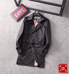 Heiße männer trenchcoat online-Hot UK Klassische Plaid Designer Unisex Trench Coats # BUR003 London Luxuries TB Jacken Mode Herren Damen Herbst-Winter-Oberbekleidung Medusa FF