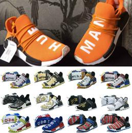 2019 chaussures de sport n lettre 2019 race humaine NMDS Pharrell Williams hommes femmes sport designer chaussures off noir blanc gris coureur PK tricot premier XR1 R1 R2 Sneaker chaussures