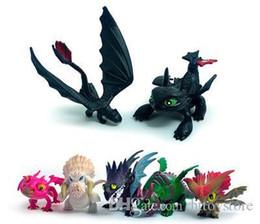 Deutschland 7 teile / satz Cartoon Wie Drachenzähmen Zahnlos Night Fury Action-figuren Spielzeug Für Kinder PVC Anime Figuren Modell Spielzeug Geschenke Versorgung