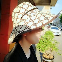 mode strand hüte für frauen Rabatt Breite G Brief Brim Hat Mode Frauen Reise Strand Dome Cap Sommer Outdoor-Camping-Hut-verursachende Fischer-Hut TTA895