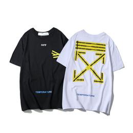 Tarjeta de marea Línea de advertencia Párrafo clásico Hombres y mujeres de manga corta Amantes Verano Ocio puro Camisetas de algodón T camiseta desde fabricantes