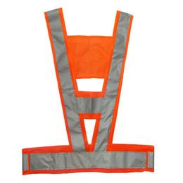 Semáforo reflectante de alta visibilidad Chaleco de seguridad en forma de I Naranja reflectante desde fabricantes