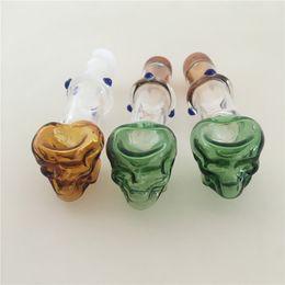 Çok Renkler Kafatası Kemik Yuvarlak Boru Cam yağ yakıcı boru Kısa Renkli Mini Sigara Kolu Borular Yağ Tırnak ücretsiz kargo nereden