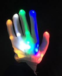 2019 collegare l'altoparlante Illuminato Giocattoli Cambiare colore lampeggiante Led guanto per i guanti ha condotto la luce KTV partito Finger incandescenza infiammante lampeggiante della punta delle dita magici Guanti