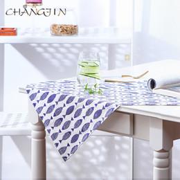 2019 guardanapo azul Peixe azul imprimir pano guardanapo, pequeno estilo fresco pano arte toalha de mesa guardanapo almofada desconto guardanapo azul