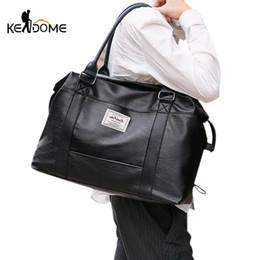 Waterproof Gym Bags Soft Leather Sports Men Women Training Fitness Handbag  Large Capacity Yoga Mat Luggage Bag for Travel XA2D 86e2fedaf0