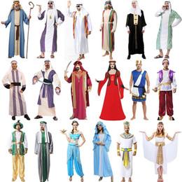 jungs roben Rabatt Party Cosplay Bühnenkostüm Männliches Halloween Thema Cos Kostüm Erwachsene Mittlere Arabische Arabische Robe Kleidung Aladdin Dubai Junge Kleidung Set 06