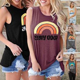 Cor do nascer do sol on-line-5 cores mulheres nova moda impressão nascer do sol arco-íris em torno do pescoço de manga curta top t-shirt tamanho livre