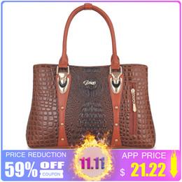 b4080cdd2a8e 2019 Fashion Women s Handbag 2018 Women Leather Handbags Bags For Women  Bags Designer Luxury Handbags Crocodile Lady Hand Bags Bolsa