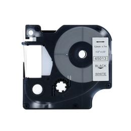 Nastri per stampanti online-5PCS D1 45013 Set combinato compatibile per DYMO D1 Nastro etichetta 12mm Nero su bianco Etichetta nastri Printer Manager 210 450