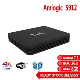 Wholesale Tx9s Amlogic S912 Android OTT TV BOX GB GB Quad Core WIFI G PK S905W Set Top Box X96 Mini H96