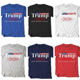 2020 t-shirt donald Hommes Femmes T-shirt Donald Trump 2020 Great Keep America lettres imprimées O-Neck T-shirt à manches courtes US Election Top T-shirts D22503 t-shirt donald pas cher