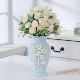 Vaso da tavolo Europa Vaso di fiori in ceramica Home Decorazioni da tavola Vaso da fiori Disposizione da giardino Ornamento da scrivania Vasi creativi supplier ceramic vases europe da vasi in ceramica europee fornitori