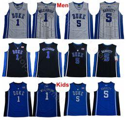 70bc538ef8969 2019 maillot de basket-ball enfants Hommes Jeunesse Collège 1 Zion  Williamson Maillots Duke Blue