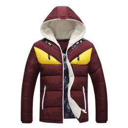 010ee6d9766 2019 New Fashion Design Mens Winter Jacket Big Eye Contrast Cotton-padded Parka  Puffer Hooded Coat Veste Homme Hiver