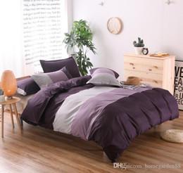 Capa de edredão Capa de edredão conjuntos Têxteis para o lar Capa de edredão às riscas + fronha várias cores e tamanhos roupa de cama têxtil de casa de