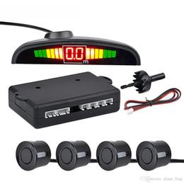 Car Auto Parktronic LED Sensor de estacionamiento con 4 sensores Retroceso de copia de seguridad de estacionamiento para automóvil Monitor de radar Detector Pantalla del sistema desde fabricantes