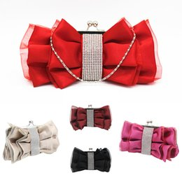 sacchetto del fiore della damigella d'onore della sposa Sconti 2019 nuove borse da donna Moda Donna Fiocco Fiore Borsa a tracolla Sposa Borsa da damigella d'onore Crociera da sera