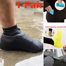 Canada Silicone Couvre-chaussures imperméables en plein air anti-pluie randonnée Couvre-chaussures antidérapantes réutilisables moto vélo vélo pluie s code Offre