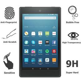Argentina 100 unids / lote para Amazon Kindle Fire HD 10 2017 Tablet Protector de pantalla de vidrio templado anti-rasguño 9H 2.5D Clear Glass Film Guard supplier scratched tablet screen Suministro
