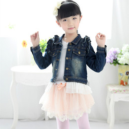 Korean roupas de bebê marcas on-line-Anlencool envio gratuito de alta qualidade versão casaco de cowboy baby girl coreana da menina primavera bebê casaco de marca de roupa meninas