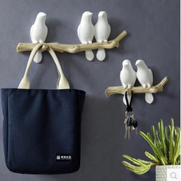 Storage americano online-Bird Crafts Model Creative Home Furnishings Stile europeo e americano Matrimonio e decorazioni per la parete di Natale Rack di stoccaggio