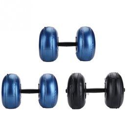 Canada Haltère à eau rempli d'eau anti-fuite réglable réglable 8-10Kg / 16-20Kg d'haltères en PVC Bodybuilding Gym Barbell Fitness Equipment Offre
