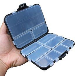 Caixas de armazenamento de plástico on-line-16 compartimentos de plástico armazenamento caso 16 Grids Fly Fishing Lure Colher Gancho Bait Connector Pesca Combater Caixas Caixa impermeável