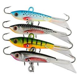 Señuelos 6cm online-Lunkerhunt Straight Up Ice Jig Lure Fishing 6cm 10.5g Live Target patrones realistas bajo lucio perca cebo