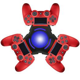 Estação de encaixe micro usb on-line-Controlador PS4 Carregador Estação de carregamento PlayStation 4 Estação de carregamento PS4 Carregador ternário PS4 com cabo de carregamento Micro USB
