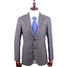 6f681d33d 2019 ternos sob medida Custom Made Windowpane Jacket Tailored  SingleBreasted Terno Ternos De Casamento Para Homens