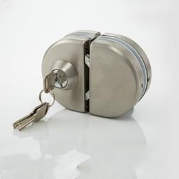 armários eletrônicos Desconto Bloqueio porta de vidro quente de aço inoxidável sem furo bidirecional Unlock Key - Knob Frameless porta de vidro frete grátis