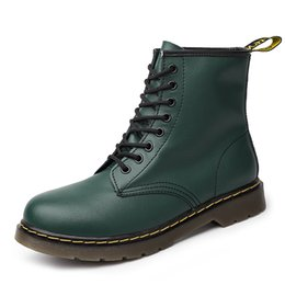 2019 Nouvelle Marque Bottines En Cuir Automne Hiver Hommes Bottes Vert Moto En Plein Air De Travail Neige Hommes Chaussures ? partir de fabricateur