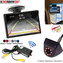 Koorinwoo Ultrasoni Monitor Rückfahrkamera Metall Schwarz Wireless Einparkhilfe Parktronic Alarmanzeige Blind Spot Detection Auto von Fabrikanten