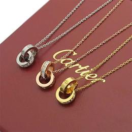 collar redondo eslabones de cadena de bronce Rebajas marca colgante de collar de lujo de la moda para las mujeres collar colganteCartierregalo de la joyería dama Sin cuadro