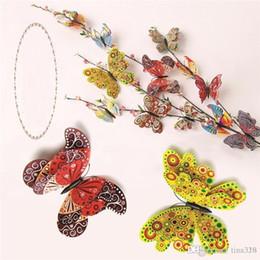 Venta caliente colorido conjunto de mariposa de simulación dormitorio DIY adorno estereoscópico Mariposa Muebles para el hogar Artesanía juguetes T3I0104 desde fabricantes