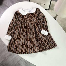 fotos de cuello redondo vestido Rebajas 2019 nuevo vestido de alta calidad para niños S ropa para niños niñas PP-3