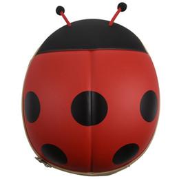 Çocuk Sırt Çantası Karikatür Böceği Fermuar Yürüyor Omuz Çantası kırmızı cheap cartoon beetle nereden karikatür böceği tedarikçiler