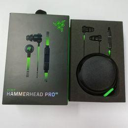 cuffie di razer Sconti Nuove cuffie Razer Hammerhead Pro V2 In Ear Auricolari con microfono Cuffie da gioco Isolamento acustico Bassi stereo